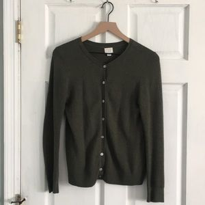 A New Day Green Cropped Cardigan - Size Small